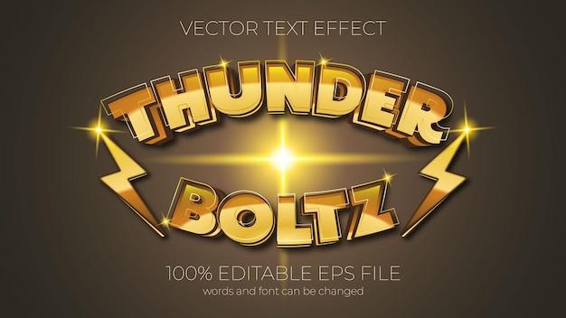 Text effect vector illustration, thunder bolt