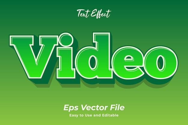 Text effect video editable and easy to use premium vector