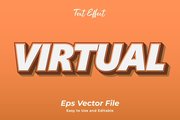 Text effect virtual editable and easy to use premium vector
