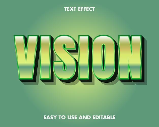 テキスト効果ビジョン。編集可能なフォントスタイル。