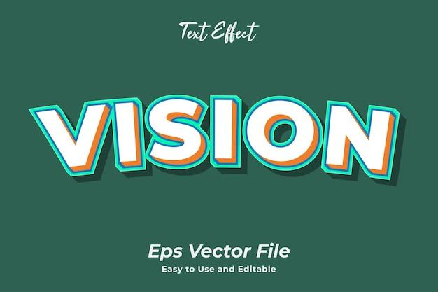 Текстовый эффект зрение редактируемый