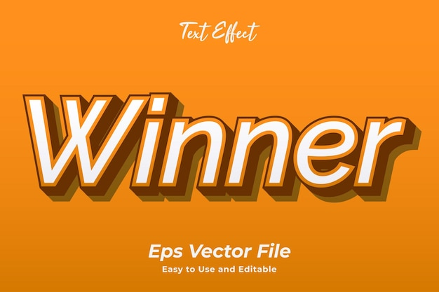 Text effect winner editable and easy to use premium vector