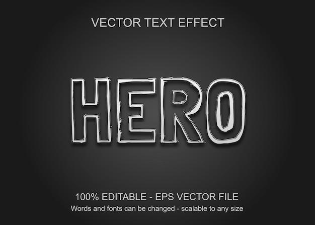 Текстовый эффект с черным фоном и белым текстом, как рваная бумага