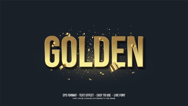 Text effect with gold writing illustrations.