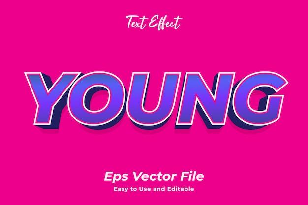 Текстовый эффект молодой редактируемый