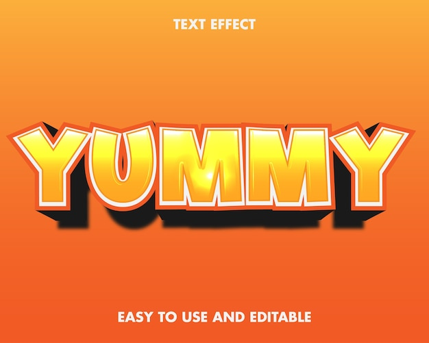 Text effect yummy. easy to use and editable.