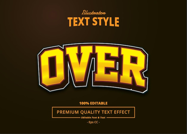 Over text effect