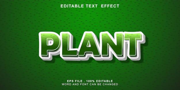 Text-effeect-editable-plant
