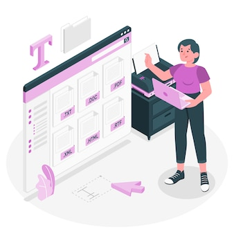 Illustrazione di concetto di file di testo