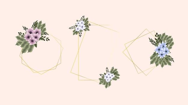テキスト花バナー背景花チラシ3月8日女性の日フレーム