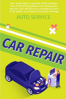 Text flyer template for professional car repair service