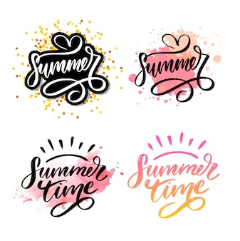 Text lettering for summer sales