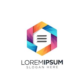Text logo modern