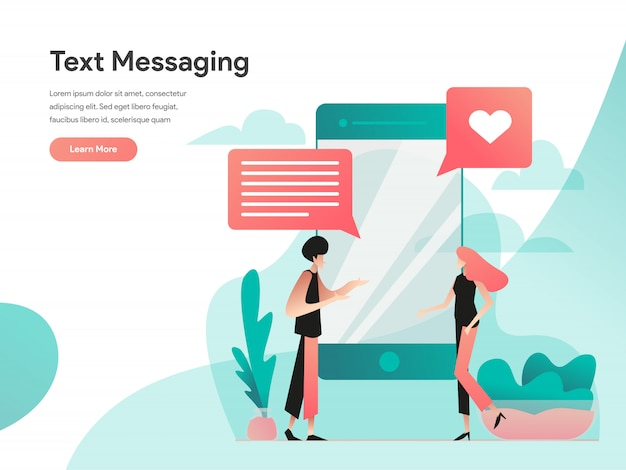 Text messaging web banner