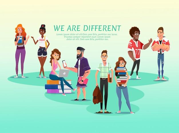 모든 학생을위한 교육 광고 텍스트 포스터