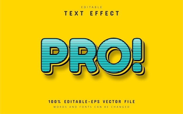 Text pro  blue text effect with stripes