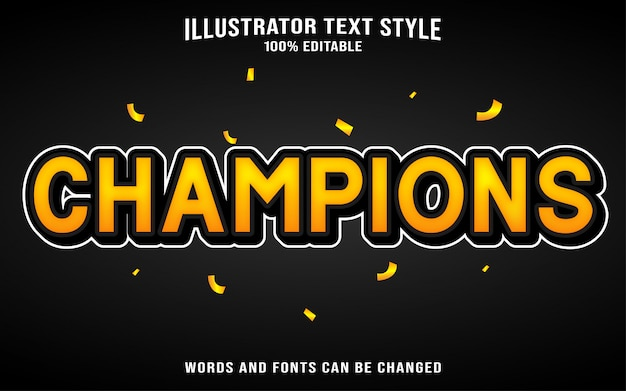 Text style champions