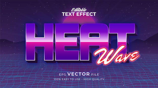 Text style effect. retro summer text in grunge style