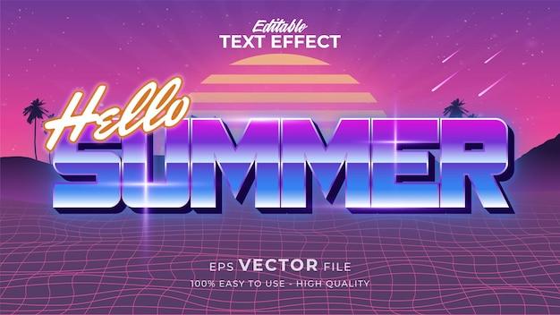テキストスタイルの効果。グランジスタイルのレトロな夏のテキスト