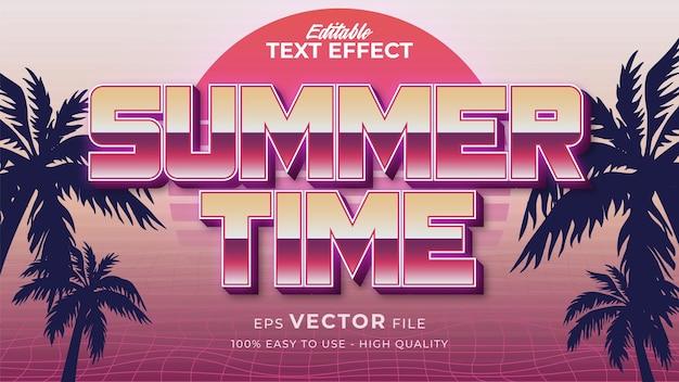 Эффект стиля текста. ретро летний текст в стиле гранж