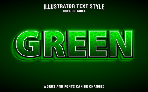 Text style green