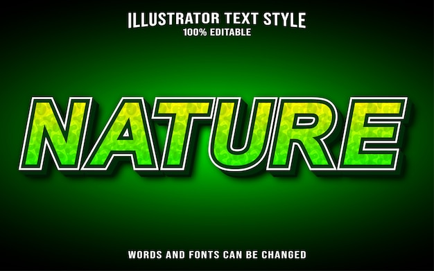 Text style nature