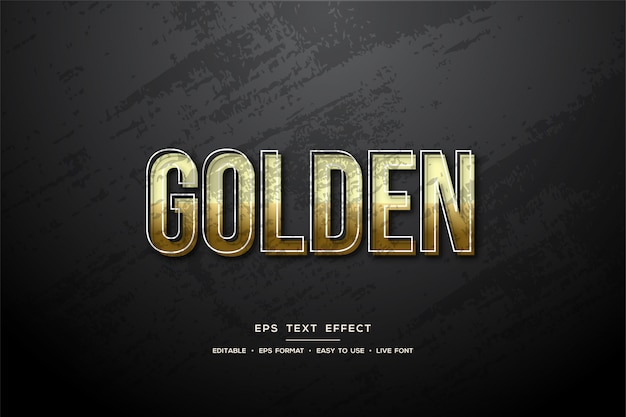 Text style rustic gold effect.