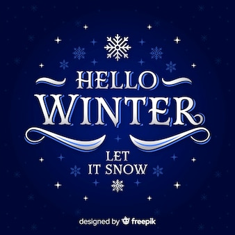 Text winter background