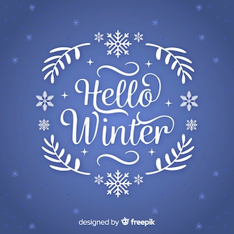 Text winter wreath background