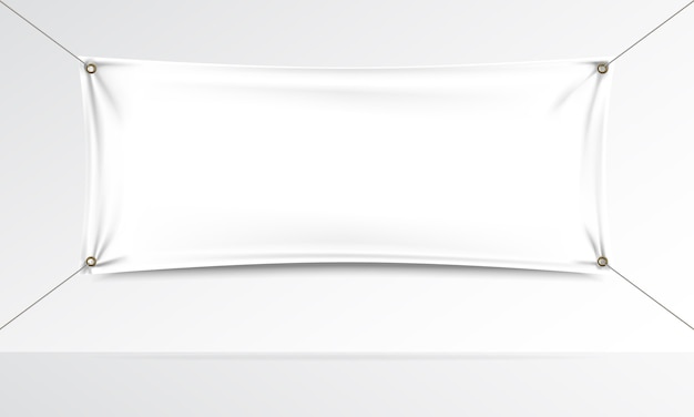 Textile banner realistic mock up
