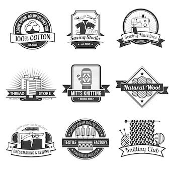 Textile emblem set