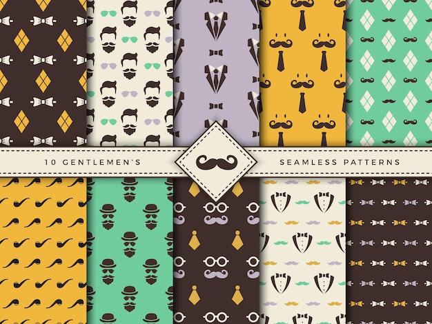 Текстильные бесшовные фоны для мужских аксессуаров