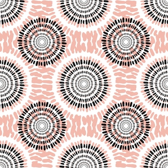 Textile vector seamless pattern. Casual fashion background texture. Peach color. Autumn abstract fabric design.