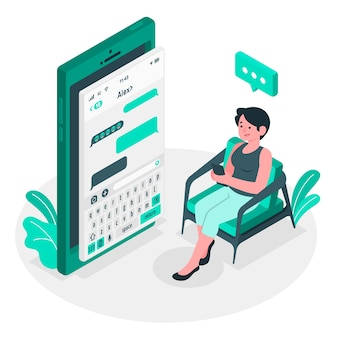 Texting concept illustration