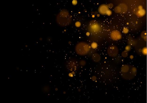 テクスチャ背景抽象的な黒と白または銀のキラキラとエレガントなクリスマス。ダストホワイト。きらめく魔法のダスト粒子。魔法のコンセプト。ボケ効果と抽象的な背景