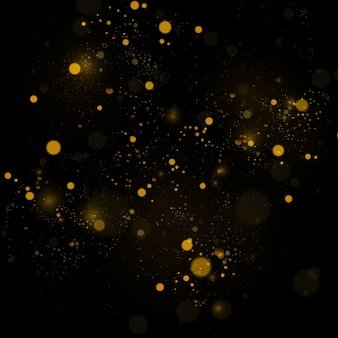 テクスチャの背景は、黒と白またはシルバーのキラキラとエレガントな抽象的なです。ほこり白。きらめく魔法のほこりの粒子。魔法の概念。ボケ効果のある抽象的な背景