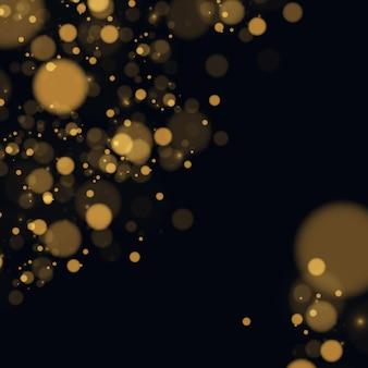 テクスチャの背景は、黒と白またはシルバー、ゴールドのキラキラとエレガントな抽象的なです。ほこりの白。きらめく魔法の粒子。魔法の概念。ボケ効果のある抽象的な背景。ベクター