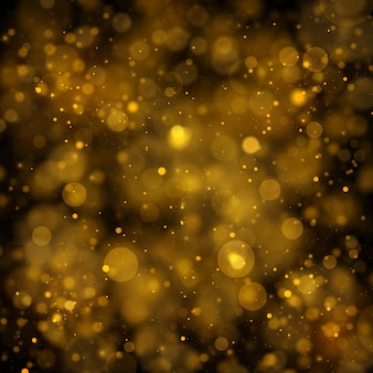 Texture background abstract black and gold glitter and elegant for christmas dust white sparkling magical dust particles magic concept abstract background with bokeh effect vector