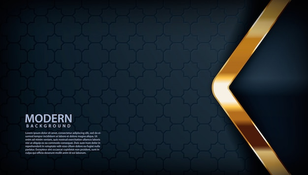 Texture background with arrow golden effect