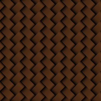 Texture brown leather weaving seamless pattern