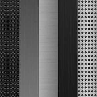Texture metal background set