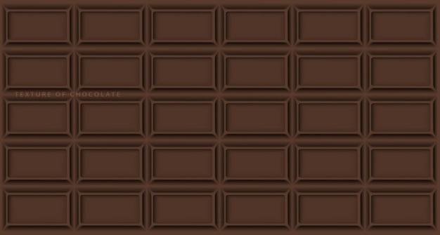 Текстура плитки белого, молочного и темного шоколада со сломанными концами