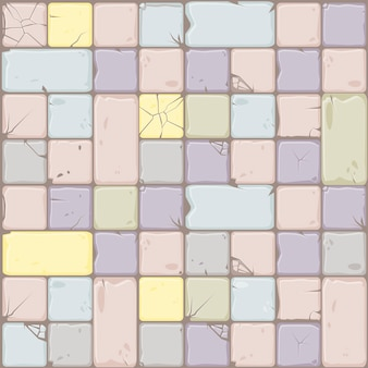 Texture of pastel colors stone tiles, seamless background stone wall.