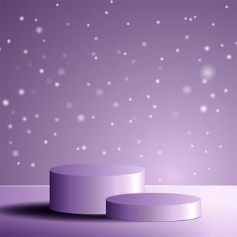 毎年恒例の販売またはお祭りの販売のためのフェイシャルクリームのディスプレイ用のテクスチャ台座優雅な化粧品