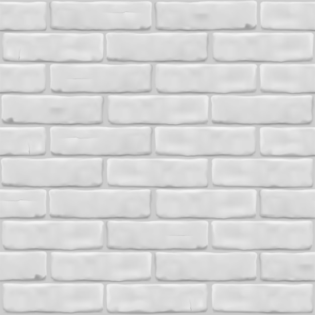 Texture white brick wall for exterior, interior, website, background, graphic design.  seamless pattern.