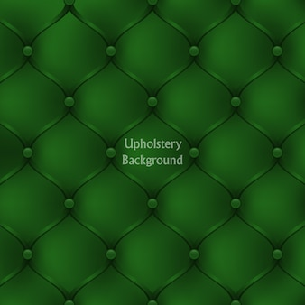 Textured background of green leather upholstery furniture