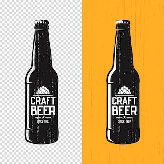 Textured craft beer bottle label