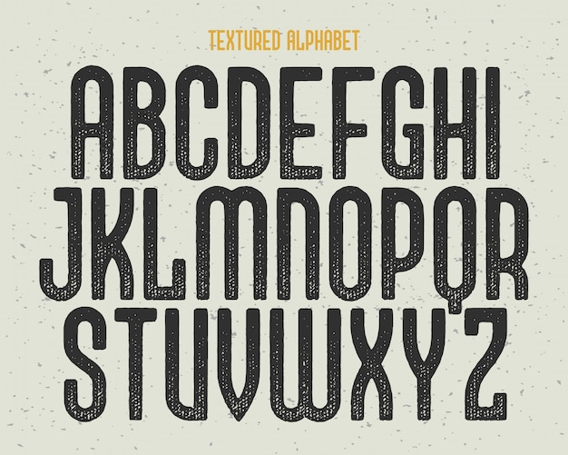 Textured font set