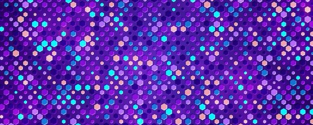 Textured purple background with a blend of colorful shapes.