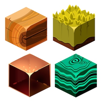 Textures for platformers cubical set